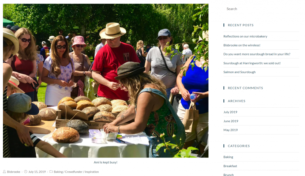 Bisbrooke Artisans website by Thirst Media